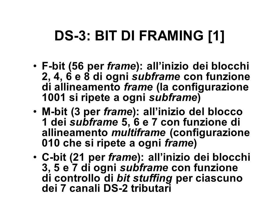 DS-3: BIT DI FRAMING [1]